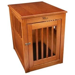 Dynamic Accents MedOakEndTable Furniture Style Dog Crate Burnished Oak