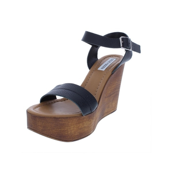 a8ba5bcbc98 Shop Steve Madden Womens Belma Wedge Sandals Leather Ankle Strap ...