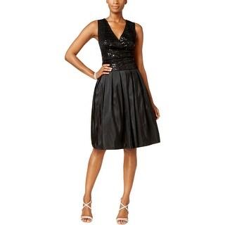 SL Fashions Womens Party Dress Taffeta Sequined