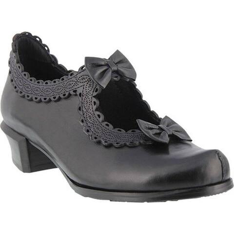 Spring Step Women's Jezebel Pump Black Leather