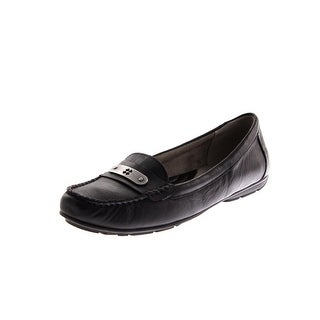 Naturalizer Womens Kaster Leather Casual Loafers - 7 wide (c,d,w)