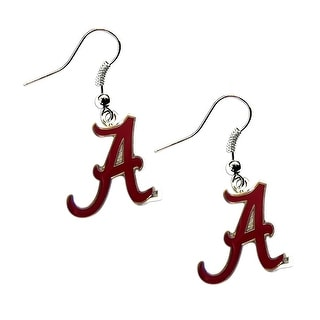 Alabama Crimson Tide Dangle Logo Earring Set NCAA Charm Gift