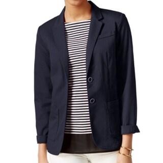 Tommy Hilfiger NEW Navy Blue Women's Size 12 Button-Down Blazer Jacket