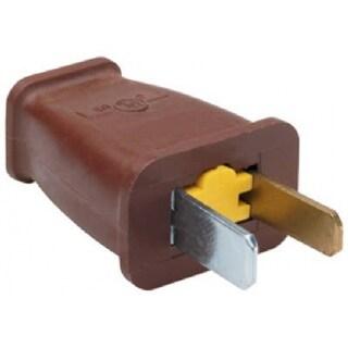 Pass & Seymour SA540CC10 Straight Blade Polarized Plug, 15A, 125V, Brown