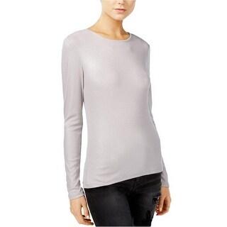 GUESS Alayna Crew Neck Top Shirt Silver Multi - XL