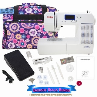 Janome 8050 Computerized Sewing Machine w/ Bonus Bundle
