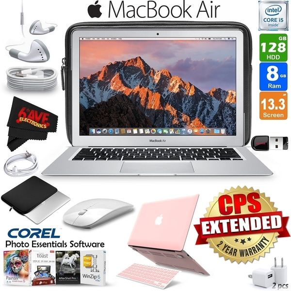 Apple 13.3-Inch MacBook Air with Hard Case (6 Colors Available)