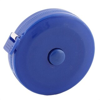 150cm 60 Inch Blue Plastic Shell Press Button Retractable Tape Measurement Tool