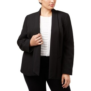 Kasper Womens Plus Open-Front Blazer Professional Business Attire