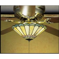Meyda Tiffany 27449 Stained Glass / Tiffany Fan Light Kit from the Fixtures Collection