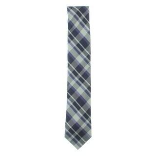 Calvin Klein Mens SchoolBoy Neck Tie Plaid Silk - o/s