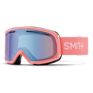 Smith Optics 2017/18 Womens Drift Asian Fit Goggle - Sunburst Frame, Blue Sensor Mirror Lens