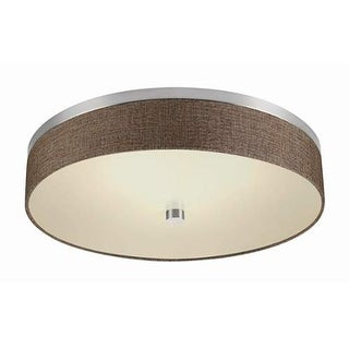 "Forecast Lighting FD0007836 1 Light LED 20"" Wide Flush Mount Ceiling Fixture from the Chelsea Collection - Satin Nickel"