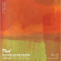 """Global Art - Fluid Watercolor Paper Block - Cold-Press - 6"""" x 6"""" - 15 Shts./Pad"""