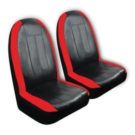 Pilot Automotive SC-440R Sport Synthetic Leather Seat Cover (Pack of 2)