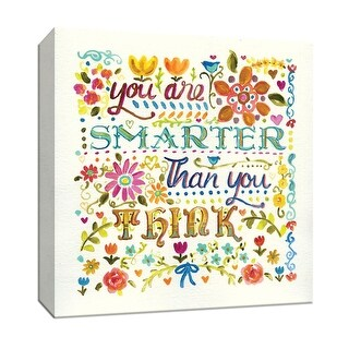 """PTM Images 9-147131  PTM Canvas Collection 12"""" x 12"""" - """"You Are Smarter Than You Think"""" Giclee Sayings & Quotes Art Print on"""