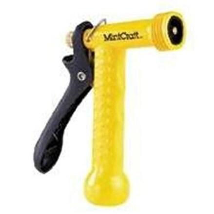 """Mintcraft GA711-Y3L Metal Garden Hose Trig Nozzle, 5-1/2"""", Yellow"""