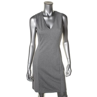 Theory Womens Adoxa Sleeveless V-Neck Wear to Work Dress - 4
