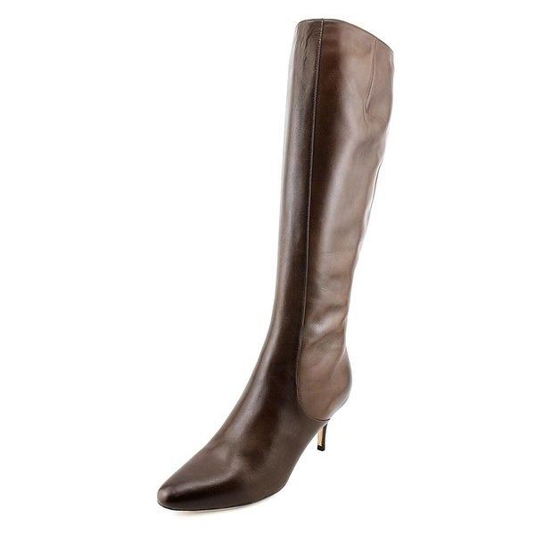 Cole Haan Carlyle Dress.Boot 2A Pointed Toe Leather Knee High Boot