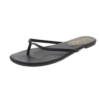 Splendid Womens Madrid Leather Thong Flip-Flops - 7.5 medium (b,m)