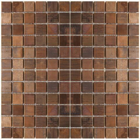 Small Square Antique Copper Tile 11.8x11.8 (11 tiles/10.63 Sqft)