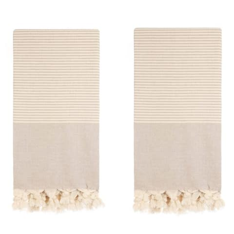 Set of 2 Turkish Towels - 100 % Turkish Cotton - Balaban - Citizens of the Beach Collection