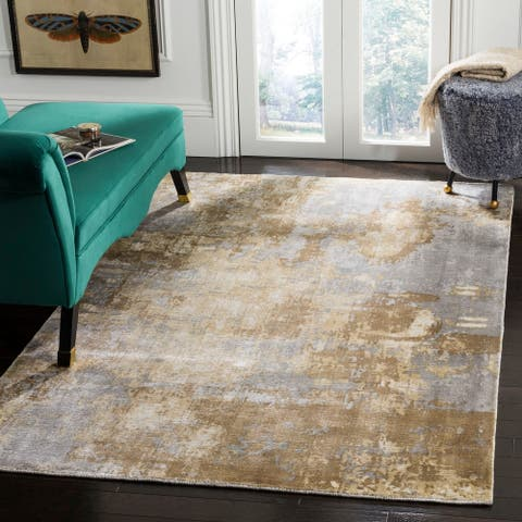 Safavieh Handmade Mirage Shafika Modern Abstract Viscose Rug