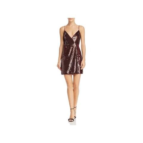 BCBG Max Azria Womens Cocktail Dress Sequined Mini