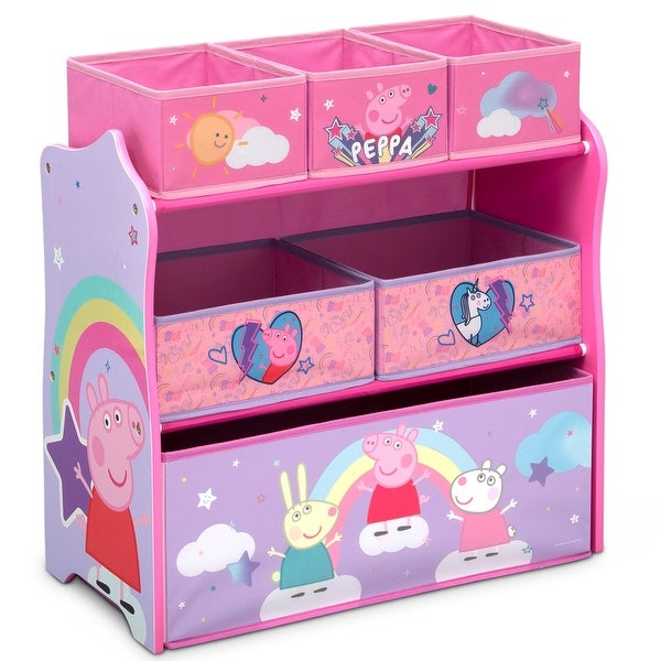 Peppa Pig 6 Bin Design and Store Toy Organizer by Delta Children. Opens flyout.
