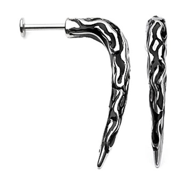 "Surgical Steel Tribal Claw Labret - 14GA 3/8"" Long (Sold Ind.)"