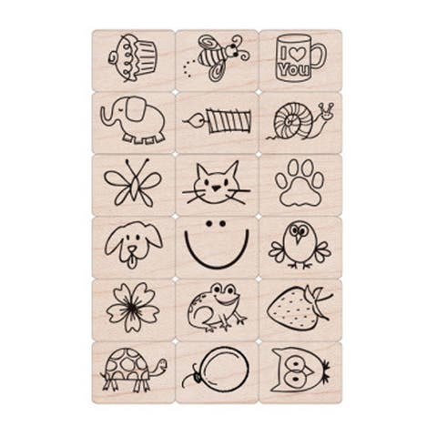 Ink 'n' Stamp Fun Stuff Stamps, Set of 18 - One Size