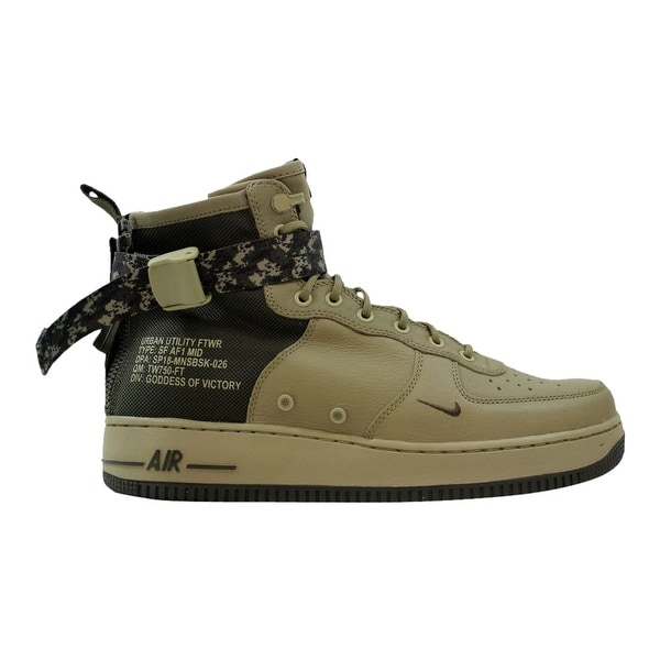 Shop Nike SF Air Force 1 Mid Neutral Olive Cargo Khaki 917753-201 ... 2c62bd010