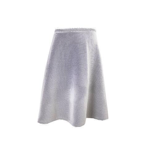Calvin Klein White Mesh A-Line Skirt 10
