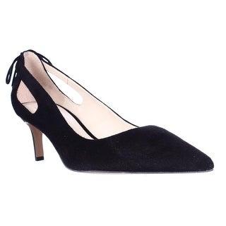 Franco Sarto Doe Back Tie Dress Kitten Heels, Black