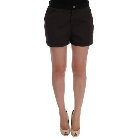 Dolce & Gabbana Gray Cotton Crystal Women's Shorts