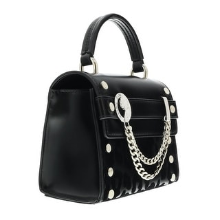 Versace EE1VOBBU2 EM10 Black Top Handle/Crossbody Bag - 7-6-3.5