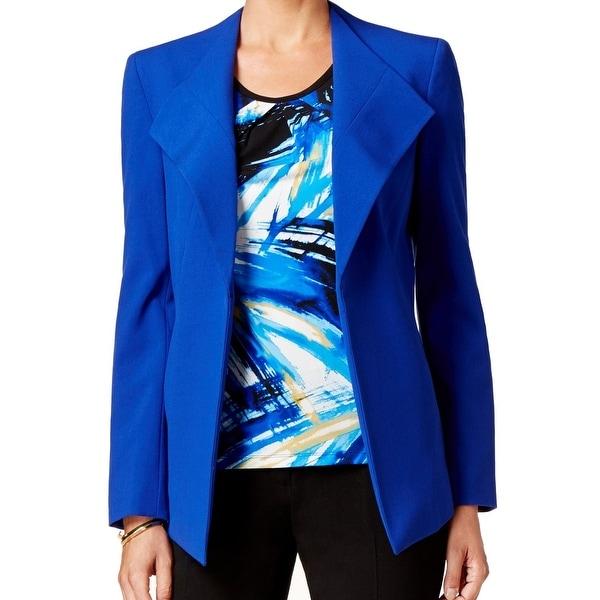 Nine West NEW Blue Cobalt Women's Size 12 Open Front Drape Jacket