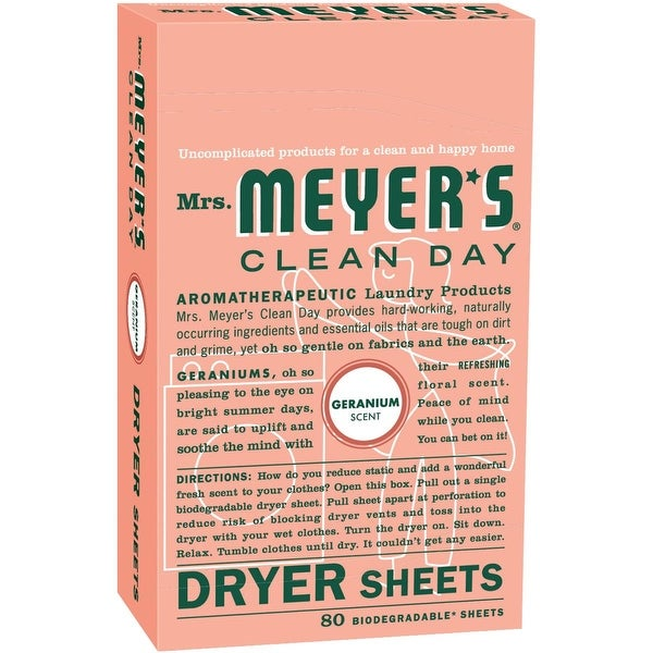 Mrs. Meyer's 80Ct Grnium Dryer Sheets