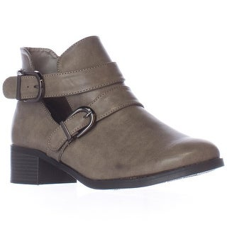 Easy Street Badge Low Cut Ankle Boots - Granite Burnish