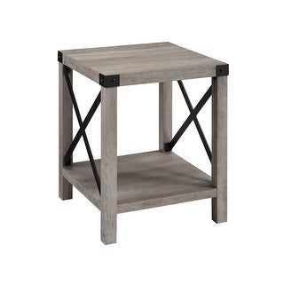 """Delacora WE-BDF18MXST  Paxton 18"""" Long Laminate and Metal End Table"""