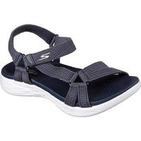 Skechers Women's On the GO 600 Brilliancy Ankle Strap Sandal Navy