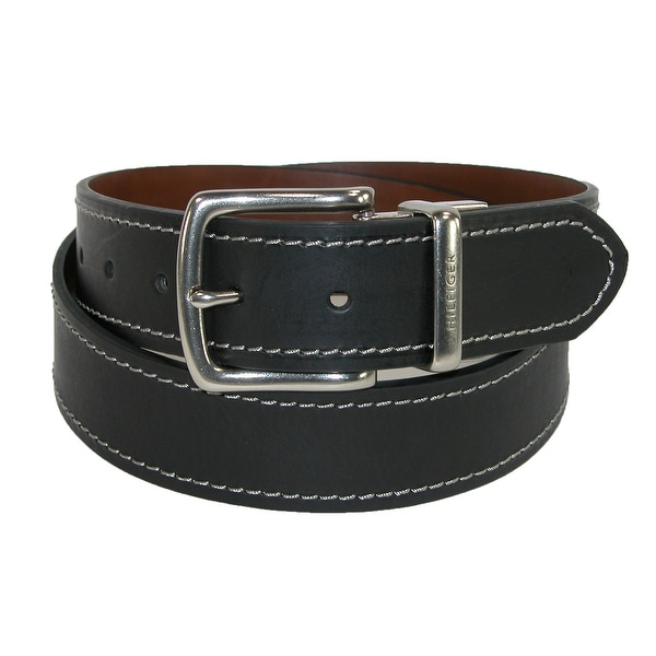 Tommy Hilfiger Men's Reversible Belt with Contrast Stitch