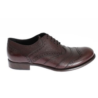 Dolce & Gabbana Brown Bordeaux Leather Dress Shoes - 39