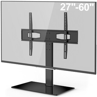 Fitueyes Universal TV Stand/ Base Tabletop TV Stand with Mount for up to 60 inch Vizio/Sumsung/Sony Tvs Max VESA 400x600
