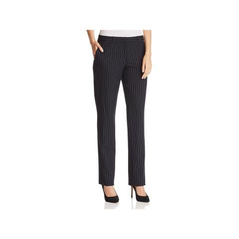 BOSS Hugo Boss Womens Tamea Trouser Pants Pinstripe Straight Leg