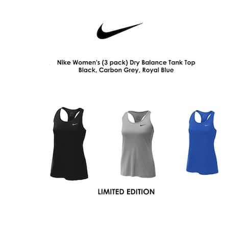 Nike Women's (3 pack) Dry Balance Tank Top
