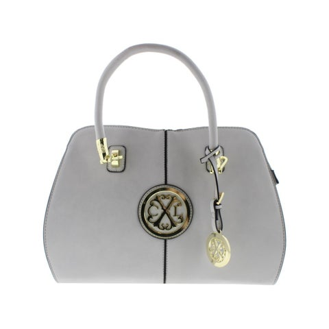 Christian Lacroix Womens Faustine Tote Handbag Faux Leather Convertible - Medium