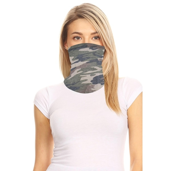 Women's Solid Print Multi Functional Washable Bandana Mask Cover Face Neck Gaiter. Opens flyout.