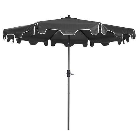 9-Feet Flap Crank Outdoor Patio Market Umbrella