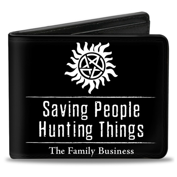 Winchester Pentagram Saving People Hunting Things The Family Business + Bi-Fold Wallet - One Size Fits most